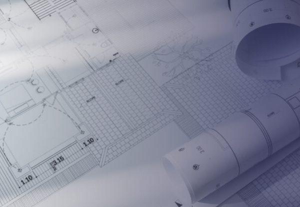 Αρχιτεκτονικά σχέδια τυπωμένα σε χαρτί